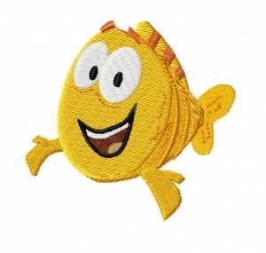 bubble guppies mr grouper embroidery design