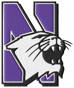 Northwestern Wildcats Embroidery Design