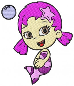 bubble guppies oona embroidery design