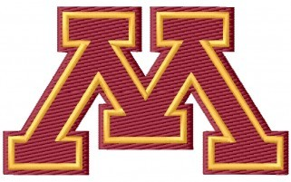 "University Of Minnesota ""M"" Embroidery Design"