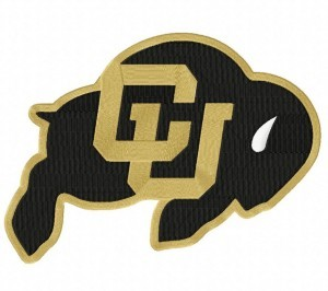 U Of Colorado At Boulder Embroidery Design
