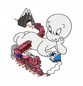 casper the ghost embroidery design