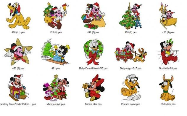 Disney Christmas Embroidery Designs Set