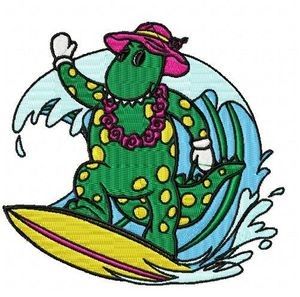 wiggles dorothy surf embroidery design