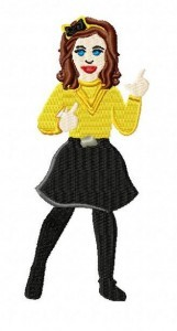 Wiggles Emma Embroidery Design