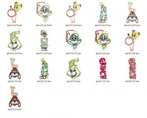 Grinch Applique Embroidery Designs