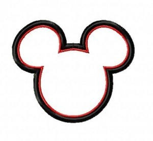 micky minnie applique embroidery designs set