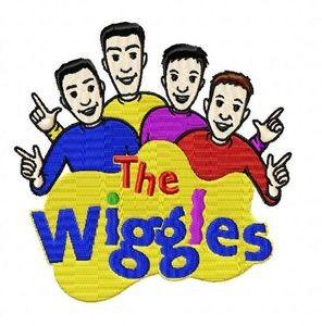 wiggles cast logo embroidery design