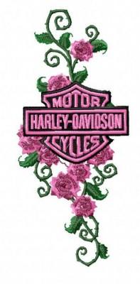 Harley Rose Vine Embroidery Design