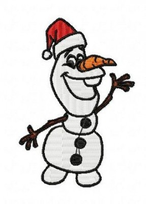 Frozen Olaf Embroidery Design Christmas