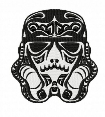 Star Wars Trooper Sugar Skull Embroidery Design