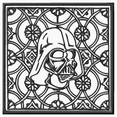 Star Wars Darth Vader Block Style Embroidery Design