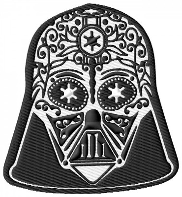 Star Wars Darth Vader Sugar Skull Embroidery Design