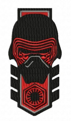 Star Wars Kylo Ren Badge Style Embroidery Design