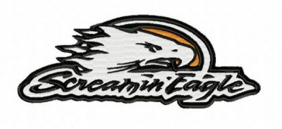 Harley Davidson Screaming Eagle Embroidery Design