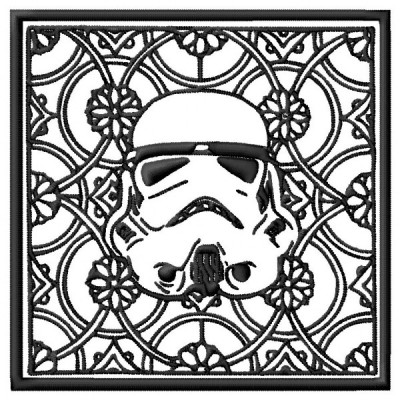 Star Wars Trooper Block Style Embroidery Design