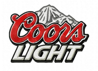 Coors Light Embroidery Design