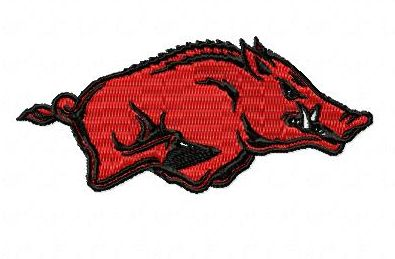 Arkansas Razorback Hog Embroidery Design