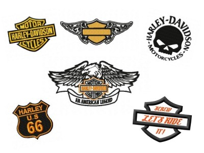 Harley Davidson Mini Deigns Set 1