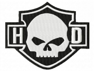 Harley Davidson Skull HD Embroidery Designs
