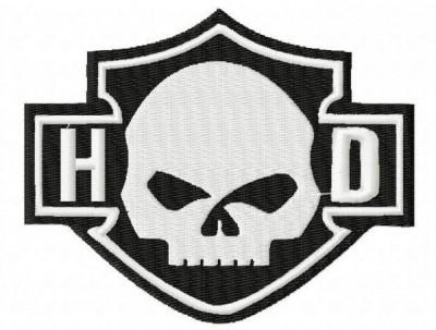 Harley Davidson Skull HD Embroidery Designs